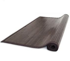 Mata bambusowa, dywanik bambusowy 200 x 250 cm, ciemnobrązowy
