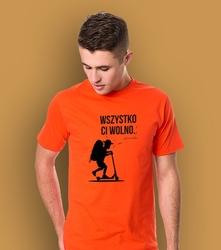 Chłopak - wszystko ci wolno t-shirt męski pomarańczowy l