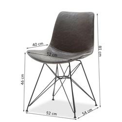 Krzesło lofter brązowe ekoskóra