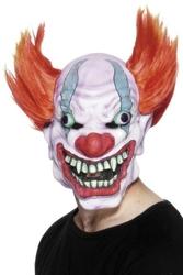Maska zły klaun clown halloween duże usta