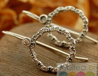Malaga - srebrne kolczyki z kryształkami