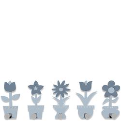 Wieszak ścienny Little Flowers CalleaDesign błękitny 13-003-41