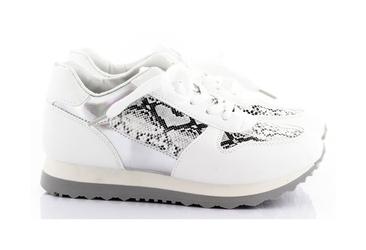 Białe buty sportowe snake  metalic t-2