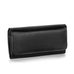 Duży skórzany portfel damski brodrene a-13 czarny
