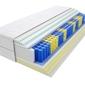 Materac kieszeniowy taba max plus 140x200 cm miękki  średnio twardy 2x visco memory lateks