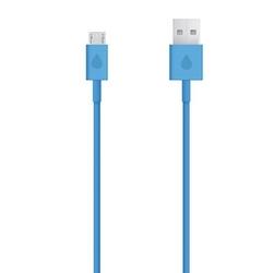 Kabel usb 2.0, usb a m- usb micro m, 1m, niebieski