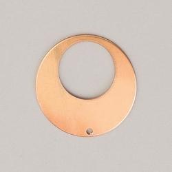 Metalowa zawieszka efcolor - okrąg z dziurką 29 mm - ozd29