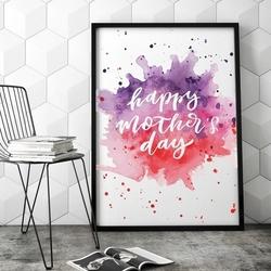 Abstract mothers day - plakat dla mamy , wymiary - 20cm x 30cm, kolor ramki - czarny