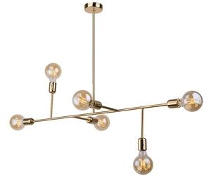 Amplex :: stalowa lampa wisząca dadim złoty