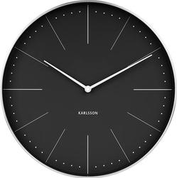 Zegar ścienny Normann 37,5 cm czarny