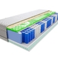 Materac kieszeniowy jaśmin mini visco molet 140x170 cm średnio twardy 2x lateks profilowane visco memory