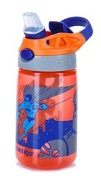 Bidon dla dzieci - kubek dla dzieci contigo gizmo flip 420ml - nectarine superhero - pomarańczowy