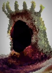 POLYamory - Yhorm, Dark Souls - plakat Wymiar do wyboru: 40x50 cm