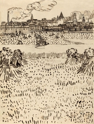 The harvest, vincent van gogh - plakat wymiar do wyboru: 40x50 cm