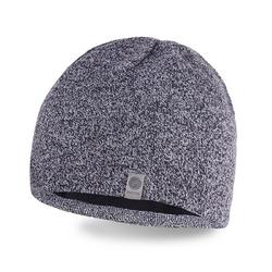 Modna męska zimowa czapka jasnoszara mulina pamami 14001