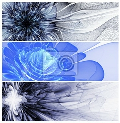 Obraz trzy kwiaty streszczenie banery