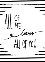 Kocham cię całego - plakat wymiar do wyboru: 21x29,7 cm