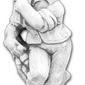 Figura ogrodowa betonowa dziecko 70cm