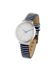 Zegarek na rękę bonprix ciemnoniebiesko-srebrny kolor w paski