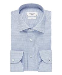 Błękitna koszula profuomo sky blue w delikatny wzór 44