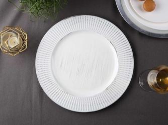 Podkładka pod talerz  na stół okrągła altom design biała, przecierana 33 cm