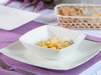 Talerz głęboki do zupy kwadratowy porcelana altom design regular 17 cm