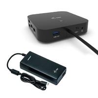 I-tec stacja dokującą usb-c dual display docking station power delivery 100 w + i-tec universal charger 112 w