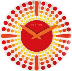 Zegar ścienny Nextime Dreamtime 43 cm, czerwony 8182 RO