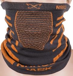 Maska treningowa, komin naroo x9 30cm - czarno - pomarańczowa