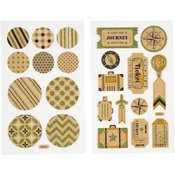Papierowe naklejki z brokatowymi zdobieniami - 106 - 106