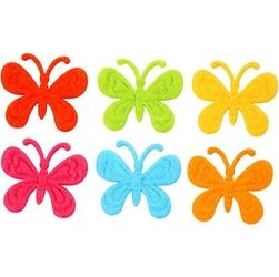 Kolorowe motyle z filcu - zestaw 18 szt.