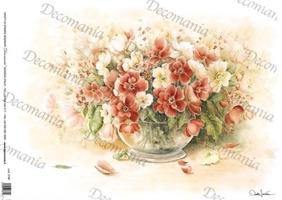 Papier ryżowy decomania 35x50 cm kwiaty w wazonie