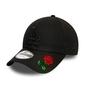 Czapka new era los angeles dodgers essential 9forty black custom rose - 12052000 - rose
