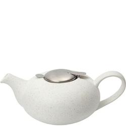 Biały dzbanek do herbaty z filtrem 1,1 litra pebble london pottery lp-17284101