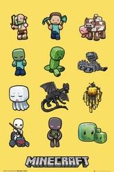 Minecraft postacie - plakat