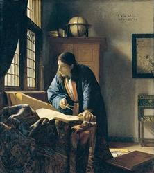 Reprodukcja the geographer, johannes vermeer
