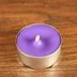 Tealight - świeca z wosku herbaciarka - fioletowa 6 sztuk