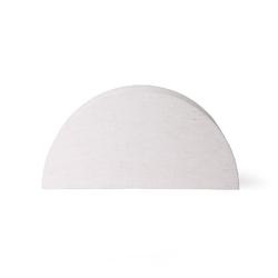 Hk living :: lampa stołowa ribbed rozmiar l naturalna