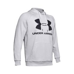 Bluza męska rival fleece sportstyle logo hoodie - szary