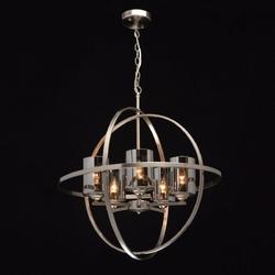 Duża lampa wisząca loft niklowana kula na 5 żarówek mw-light 285010605