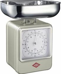 Waga kuchenna z zegarem Retro nikiel