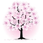 Plakat na papierze fotorealistycznym kwiat wiśni