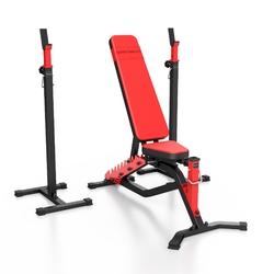 Zestaw ms1 | ławka dwustronna + stojaki regulowane - marbo sport - brak