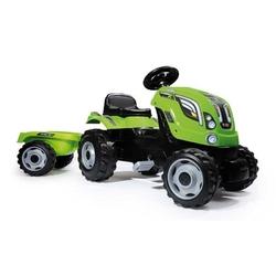 Smoby farmer xl zielony traktor na pedały z przyczepą