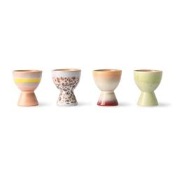 Hkliving 70s ceramics: egg cups set of 4 ace6975