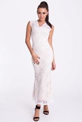 Emamoda sukienka - kremowo-biały 17005-3