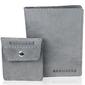 Skórzany zestaw portfel i bilonówka brodrene sw01 + cw02 szary - szary