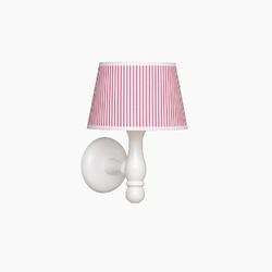 Kinkiet roomee decor - różowe paski