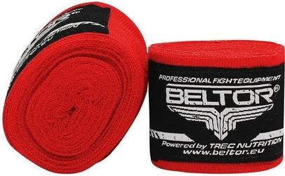 Beltor bandaż bokserski-elastyczny 3m czerwony