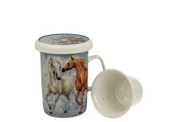Duo kubek z zaparzaczem 350 ml horses